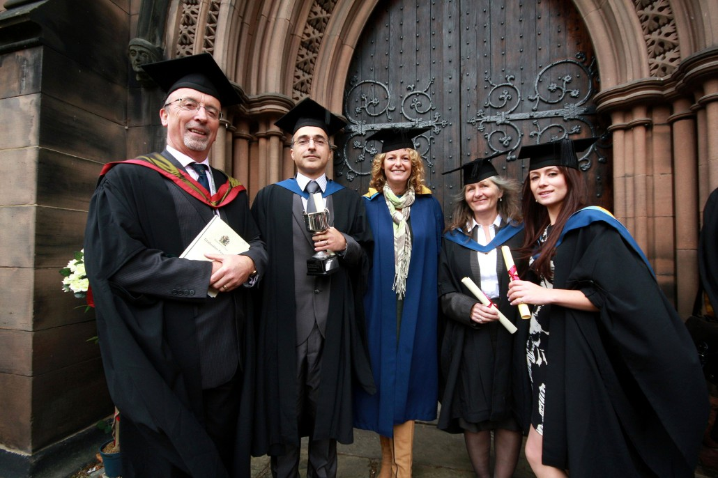 kate humble and meredydd david with 1st class hons grads jillian