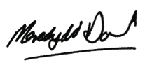 Meredydd David signature