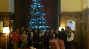 Arley Hall decorated by floristry students for christmas 1