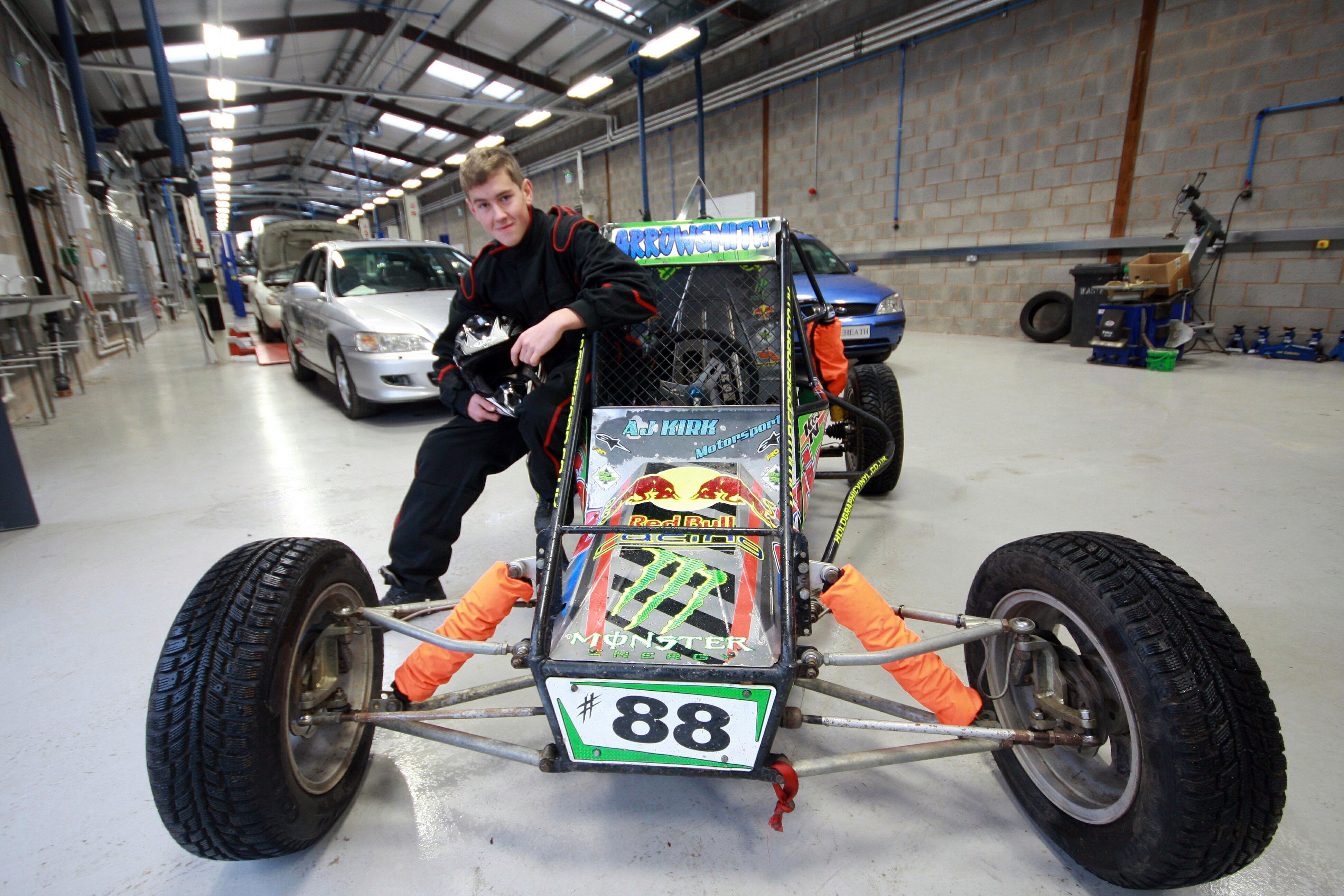 Grass track racer in pole position - Reaseheath College