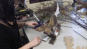 Floristry students prepare for arley hall