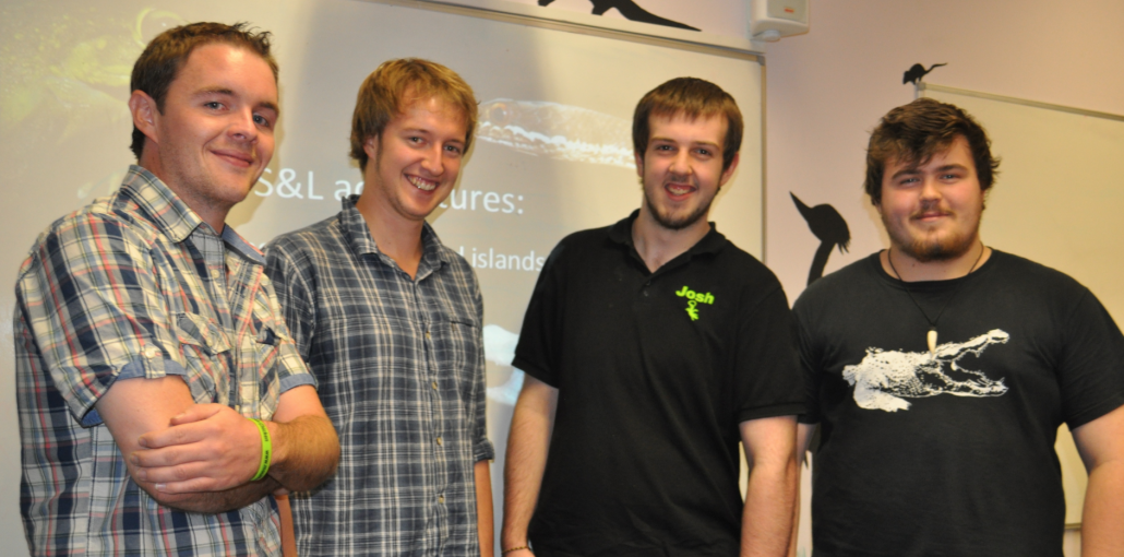 Luke Harding and Simon Maddock with Josh Flood and Nathan Brookes-Bennett, chairs RHES
