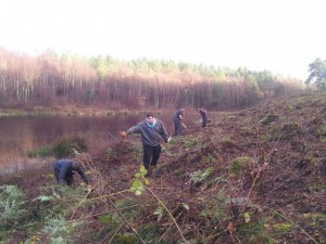 RHES Clearing scrubland at the new site being created for the White Face Darter