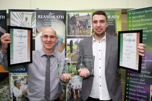 Apprentice of the Year adam Hughes and Advanced Apprentice of the Year Lyndsay Jones