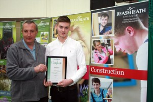 Best apprentice joiner Ed Oliver with employer Craig Hallworth