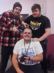 Pete Brassington - head shave fundraiser