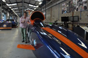 BBC Radio Stoke presenter James Watt with Bloodhound SSC