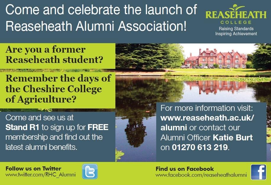 Reaseheath alumni advert