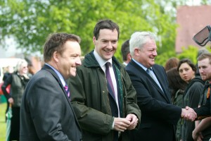 Vice Principal Dave Kynaston, George Osborne, Stephen O'Brien