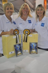Food technologists Andrea Winkler, Jane Gilman and Penny Masters with award winning cheeses