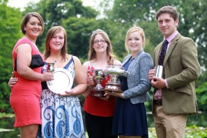 Torrence Summerfield, Becky Harper, Jess Fallows, Amy Champ, James Latter L3 Ext Dip Agriculture top students