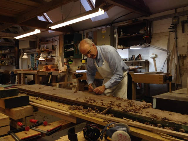 Tony Bramwell in his workshop 'making a table' article