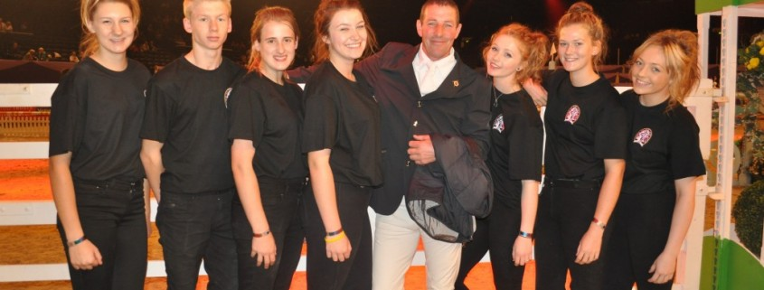 Equine students with Guy Williams