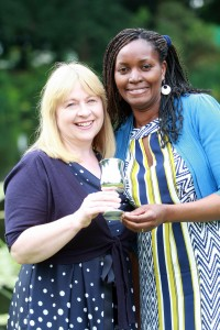 Gilly Hughes and Damaris Kuria win Access to Higher Education top students' accolade at Reaseheath Further Education Awards Ceremony 2014