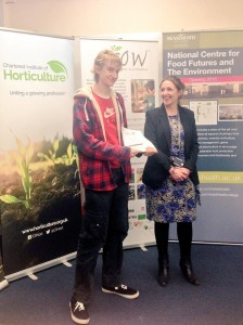 Young Horticulturalist of the Year regional winner with Reaseheath's Sarah Hopkinson
