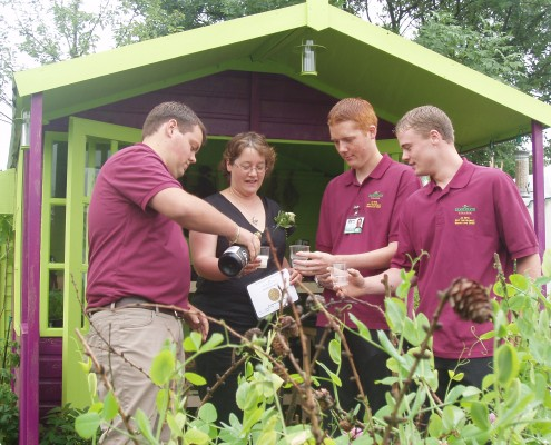 Jack Willgoss (second right) celebrates at RHS BBC Gardeners World Live back in 2005 with the rest of the design and build team.