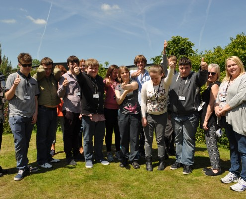 Thumbs up from Greenbank School, Northwich