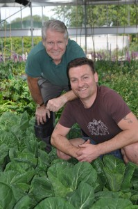 Nigel Barber and Matthew Kent prepare planting for RHS Tatton