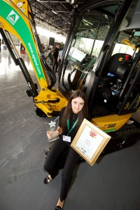 Paige Carter with trophies at Plantworx