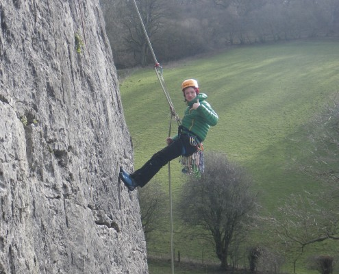 Adventure sports - student abseiling