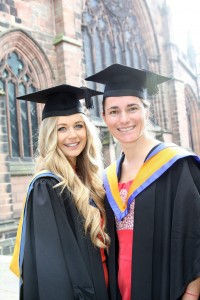 Equine Science graduate Hannah Dickson, Outstanding Achievement in undergraduate research in Equine Science Award winner with Dame Sarah Storey DBE