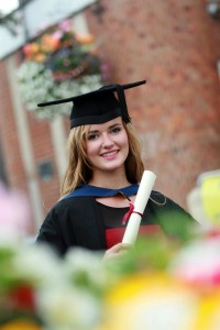 BSc (Hons) Equine Science, Charlotte Woolley on her graduation day in 2014