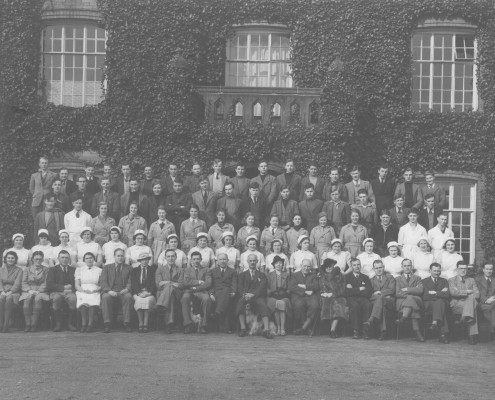 Cheshire College of Agriculture class of 1938-39 (Peter Plant is pictured  top right, second from the end)