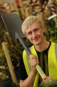 Chris Shore preparing for his WorldSkills UK final build (photo thanks to Steve Burden Photography)