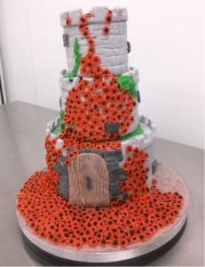 Remembrance poppy cake