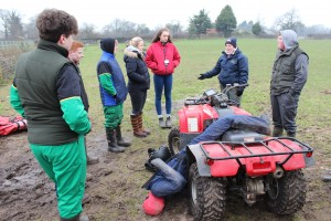 A 'typical farm accident' scenario involving an all-terrain vehicle demonstrated to students