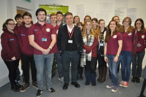 Dominic Dyer joined by members of Reaseheath Conservation Society members