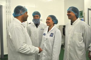 The delegates meet up with compatriot Ricardo Farias from Tetrapak Brazil