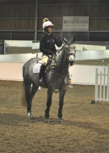 Lucinda Fredericks with promising eventer EFS Rambo