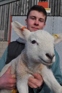 Agriculture student Matt Broady with an early arrival