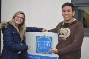 Samia Oliveira and Luan Marciano at the Food Centre