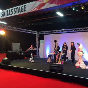 Reaseheath florists share their skills with visitors on the Spotlight Stage at Skills North West
