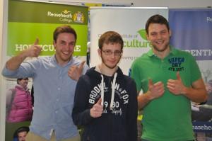 The top three celebrate – Jamie Leslie, Joshua Stevens and Matt Wood