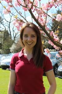 Emily Westwood back on campus recently
