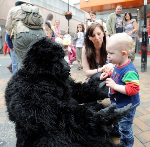 The Gorillas will deliver a conservation message in a fun way at Reaseheath's Family Festival