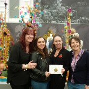 Carol Edginton, Robyn Longden, Jackie Tudor and Shiona Fosh celebrate their awards.
