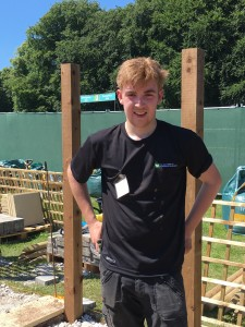 Successful WorldSkills UK competitor Aaron Byrne