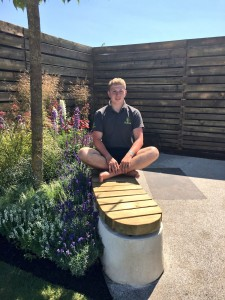 Nathan Webster on his show garden