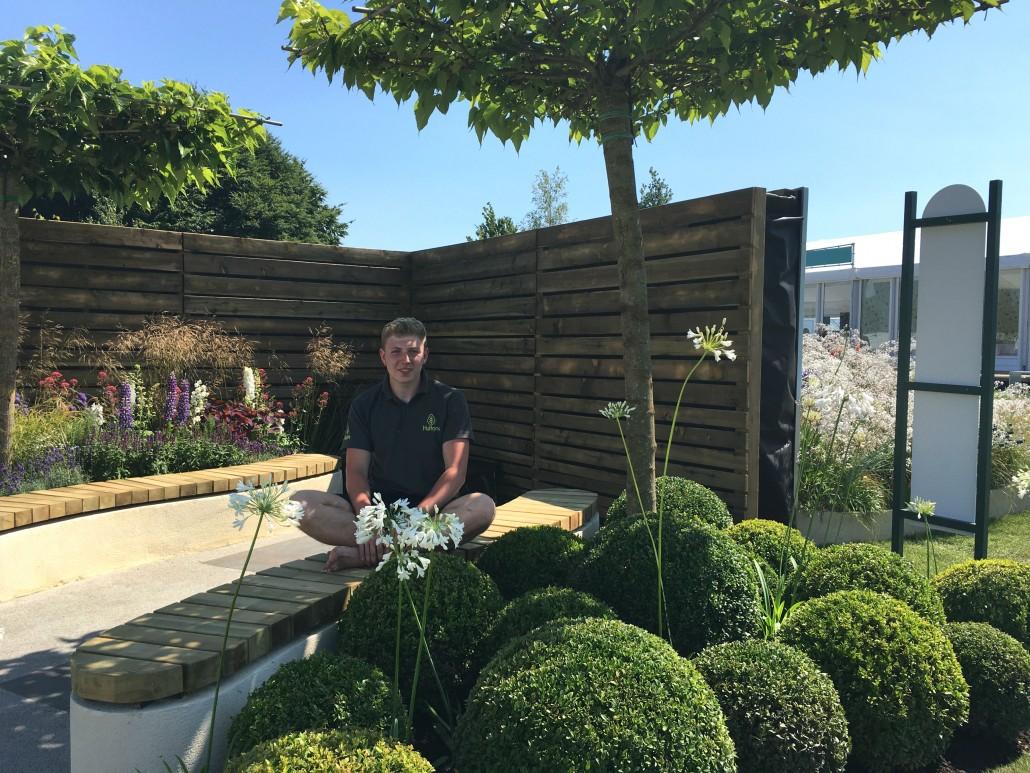 RHS medal for first time garden designer Nathan ...