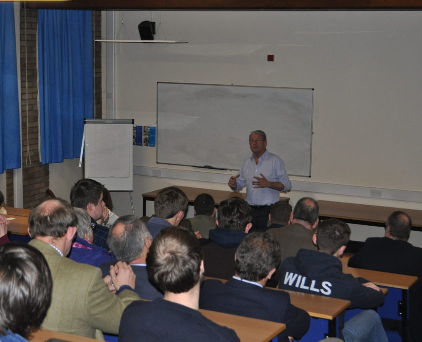 Sir Peter Kendall speaking at the IAgrM Cheshire meeting
