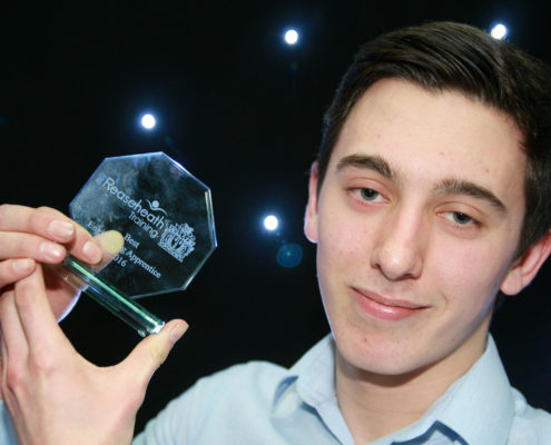 est engineering apprentice Liam Abbotts