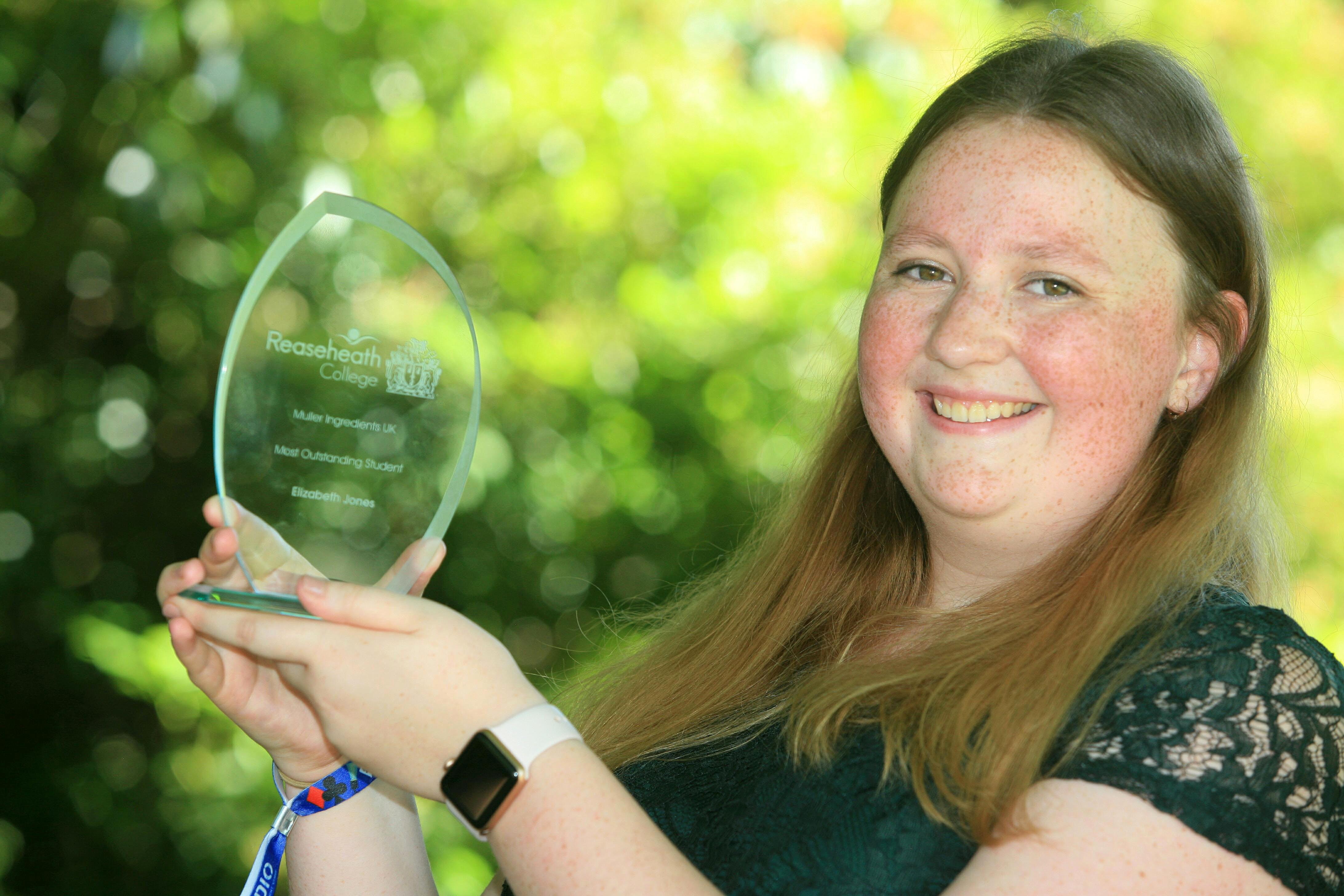 Muller Ingredients UK, Most Outstanding Student - Elizabeth Jones
