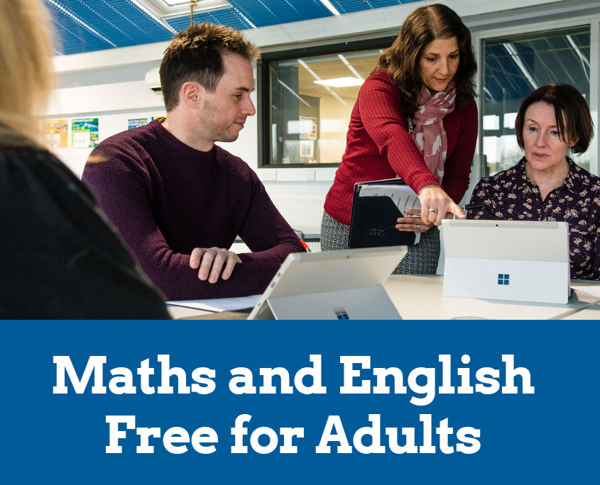 Maths and English Courses - Free for Adults