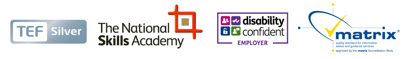 Partners logo TEF, NSA, Disability Confident, Matrix