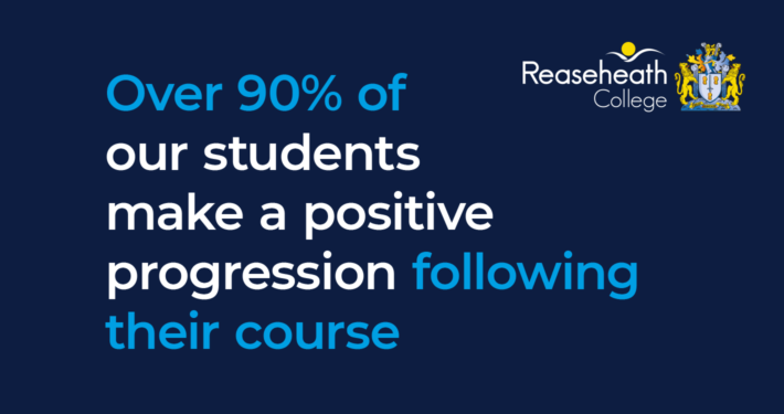 Over 90% of our students make a positive progression following their course