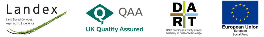 Partners logos Landex, QAA, DART, ESF